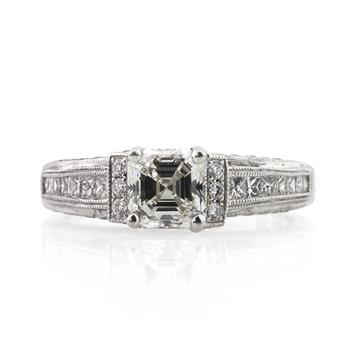 2.06ct Asscher Cut Diamond Engagement Anniversary Ring 1320-1D3121915