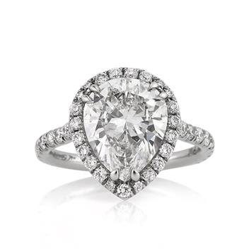 4.37ct Pear Shape Diamond Engagement Anniversary Ring 2592-1D75867430