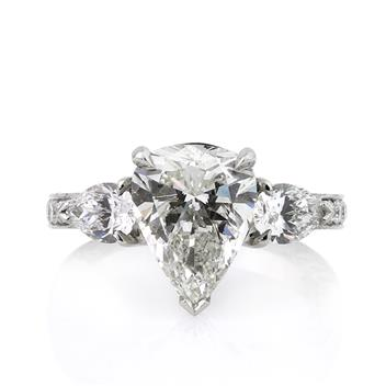 5.14ct Pear Shape Diamond Engagement Anniversary Ring 2169-1D30525230