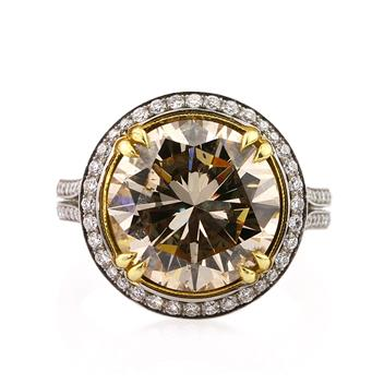 7.18ct Round Brilliant Cut Diamond Ring 1275-D7749521