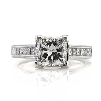 4.06ct Princess Cut Diamond Engagement Anniversary Ring 2641-1D13679613