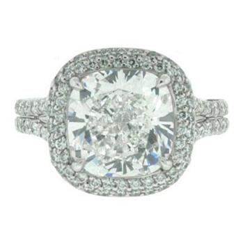 4.86ct Cushion Cut Diamond Engagement Anniversary Ring 1391-1D87518342