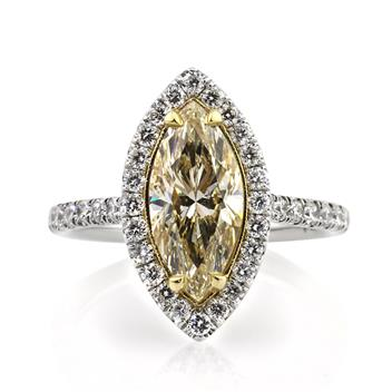 3.01ct Fancy Yellow Marquise Cut Diamond Engagement Anniversary Ring 2875-1D8539854