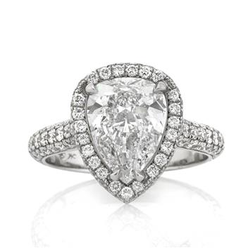 3.90ct Pear Shape Diamond Engagement Anniversary Ring 2604-1D18481220