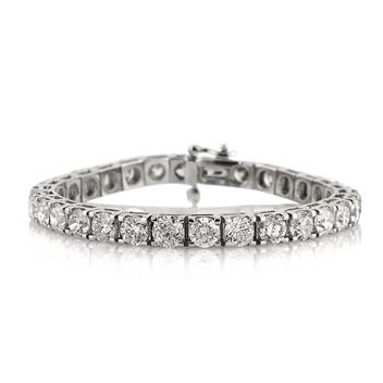 21.90ct Round Brilliant Cut Diamond Tennis Bracelet 3213-1D34101748